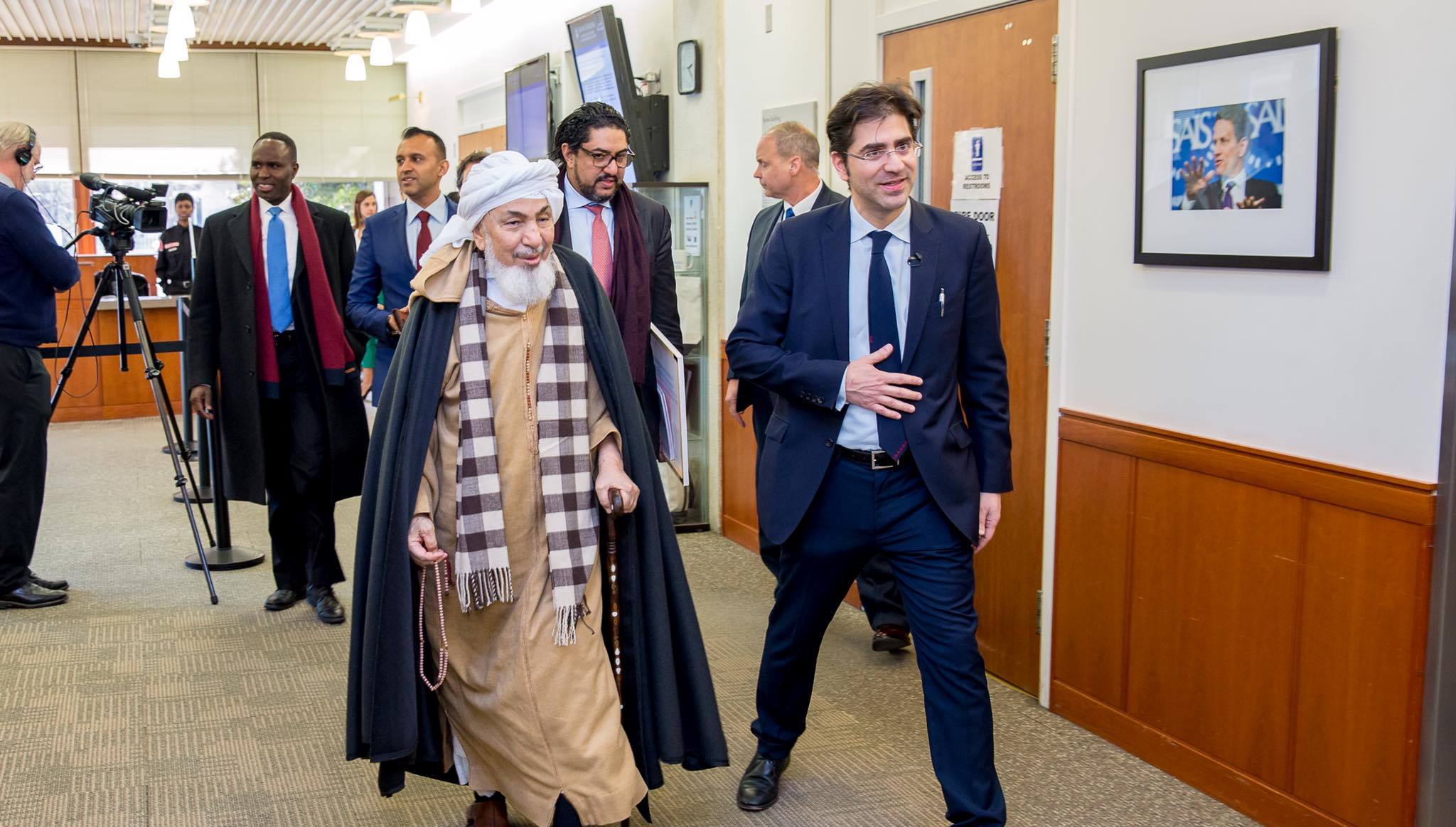 Sheikh Abdullah bin Bayyah at Johns Hopkins University